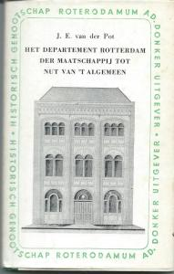 Vooromslag boek over departement Rotterdam van het Nut