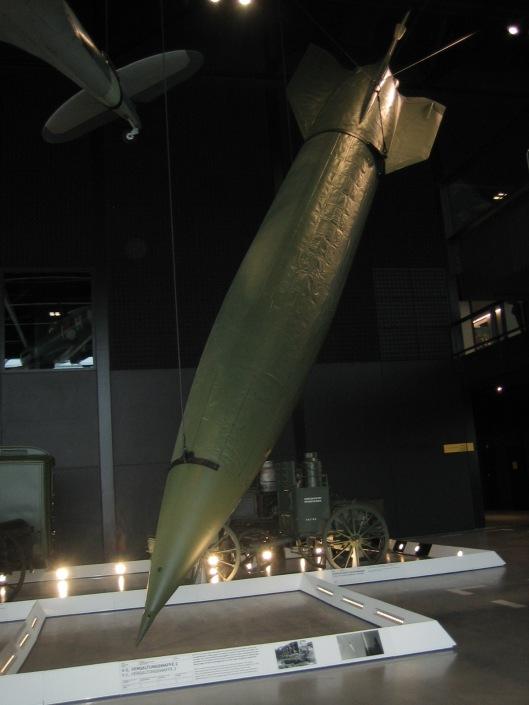 Duitse V-2 raket in het Nationaal Militair Museum, Soest