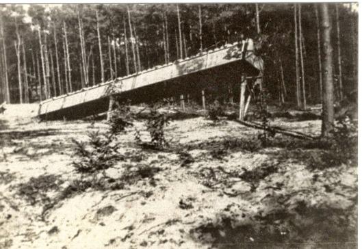 De lanceerbaan in Keukenhof-Lisse, 1945 (Dick Breedijk)