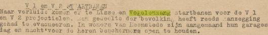 Bericht uit het illegaleblad De Patriot van 20 februari 1945