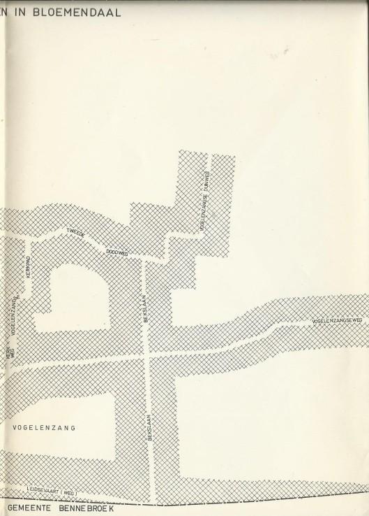 Deel van buurtschap Vogelenzang (met Bekslaan)m gemeente Bloemendaal. Uit: A.M.G.Nierhoff. Bloemendaal lanen en wegen. 1963 (bijlage)