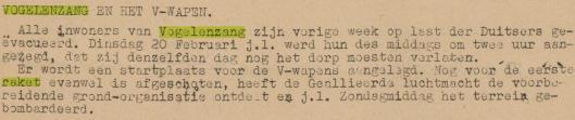 Bericht uit het toen illegale 'Trouw' van 7 maart 1945