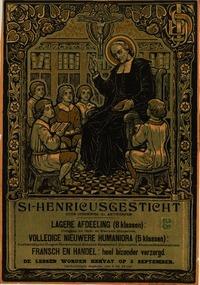 Méér dan in Nederland is de congregatie in België actief geweest met scholen, juvenaten en internaten in Roeselare, Groot-Bijgaarden, Dilbeek. Ternat, Dilsen, Lembeek, Sint Truiden, Brussel en talrijke andere plaatsen. Bovenstaand een brochure/poster van het Sint Henricussgesticht, welke onderwijsinstelling in Antwerpen een eeuw heeft bestaan van 1904-1994.