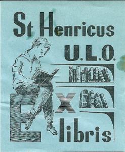 Exlibris van de vm. bibliotheek van de St.Henricus-ulo in Heemstede