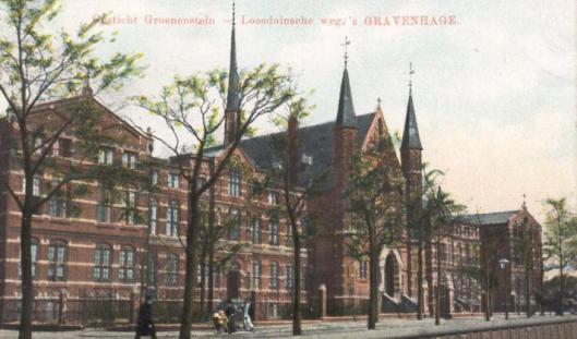 Huize Groenestein omstreeks 1908, een r.k. bolwerk in Den Haag (Wikipedia)