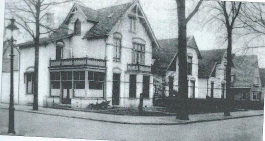 Oude foto van het Broederhuis aan de Camplaan, hoek Bosboom Toussaintlaan