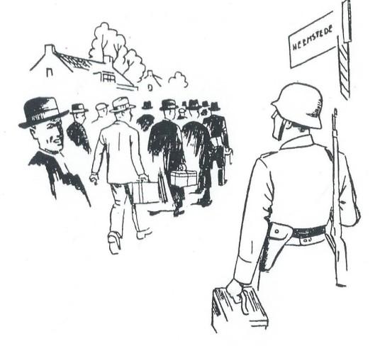 Illustratie uit 'Ich konnte nicht anders' van Jupp Hennenböhl