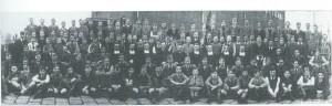 De voltallige 'bemanning' van de Henricus-ulo in het schooljaar 1936-1937. In het midden pastoor van Mierlo.