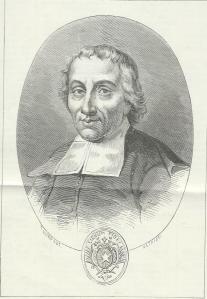 Gravure van de Franse pedagoog en ordestichter Jean-Baptiste de la Salle