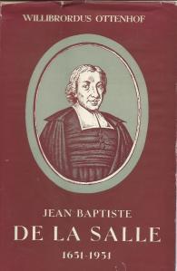 Stofomslag van biografie 'Jean Baptiste de la Salle 1661-1951' door Willibordus Ottenhof