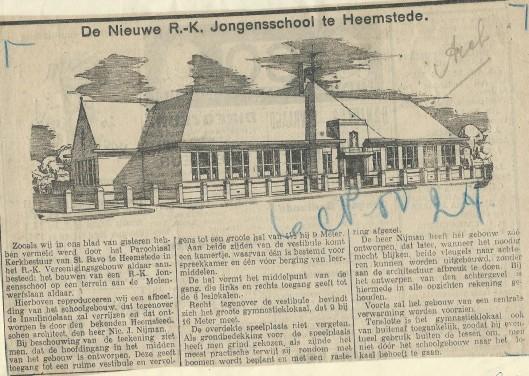Bouw van de Aloysiusschool (nu Valkenburg)
