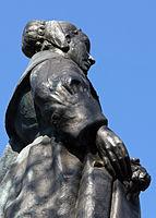 Beeld door Dirk Wolbers van Maria de Quellerie, echtgenote van Jan van Riebeeck in Kaapstad, Zuid-Afrika