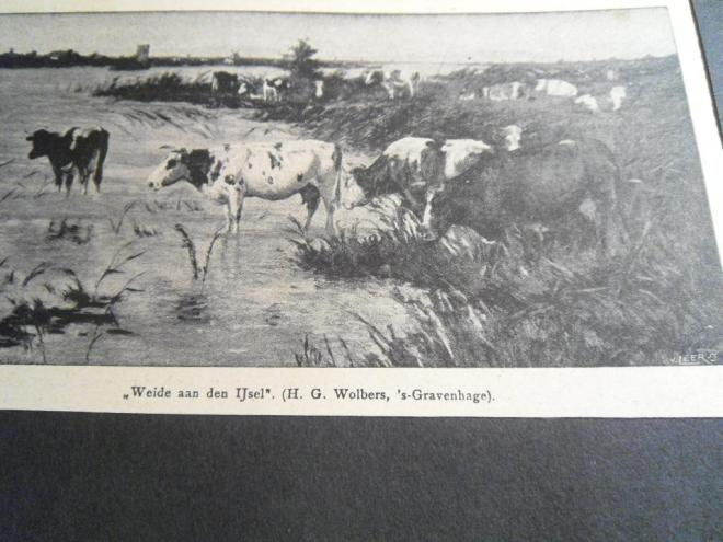 Foto van aquarel 'Weide aan de IJssel' door H.G.Wolbers. Uti tijdschrift de Prins, 27 april 1907.