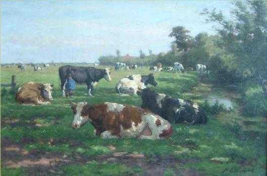 Melktijd door H.G.Wolbers (Galerie Trompenburg, 2.400 euro)