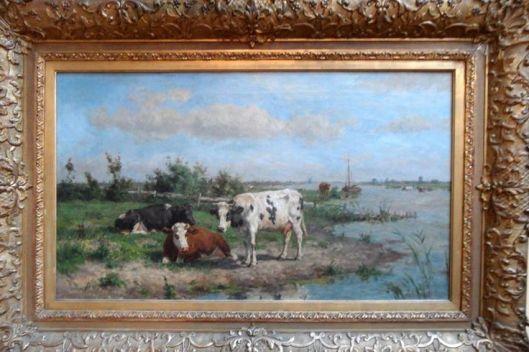 Herman Wolbers: koeien aan het Spaarne