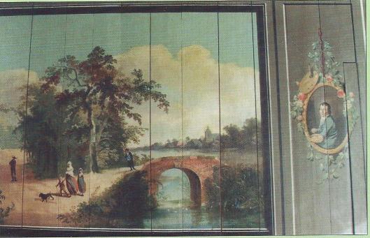 H.G.Wolbers: linkerpaneel met zomerlandshap (+ zelfportret)