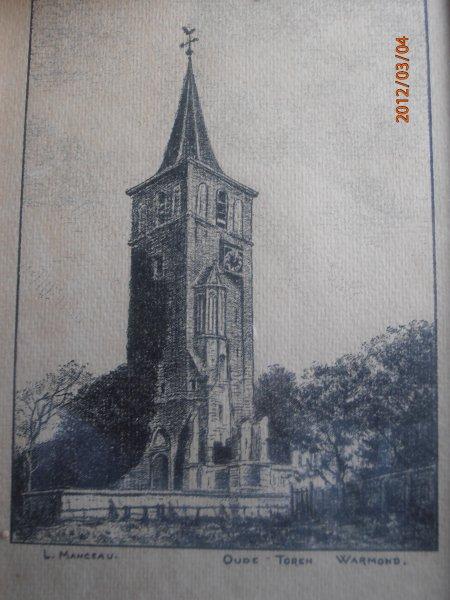 De torenkerk van Warmond; door Lucien Manceau