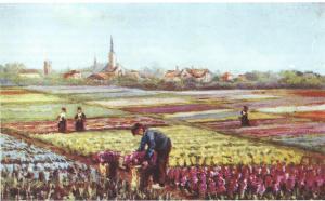Ansichtkaart uit een serie van 15 met schilderijen van Lucien Manceau