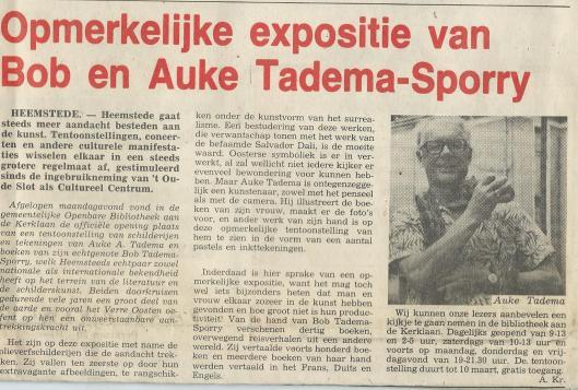 BOB TADEMA SPORRY (1912-1987) / AUKE ANNE TADEMA (1913 ...