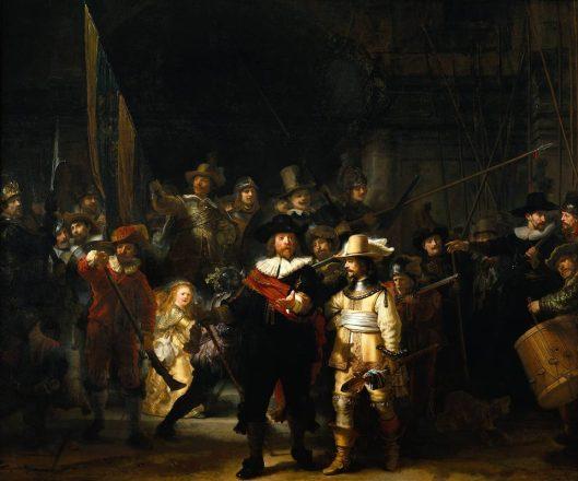De Nachtwacht van Rembrandt van Rijn.(Rijksmuseum Amsterdam)