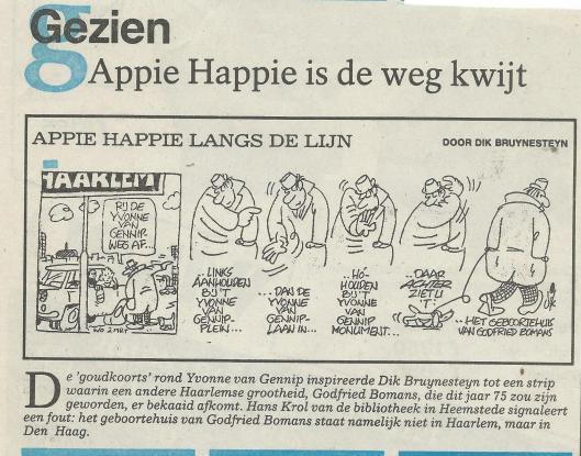 Striptekening Dik Bruynesteyn uit het Haarlems Dagblad van 16 maart 1988