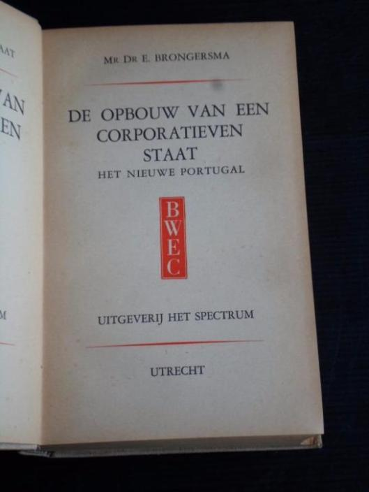 Titelblad van Brongersma's dissertatie