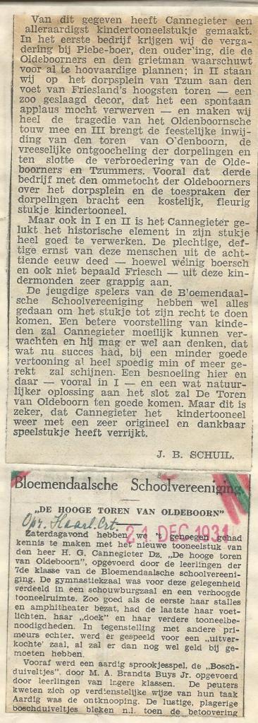 Vervolg van recencie door J.B.Schuil, 21 december 1931 (2)