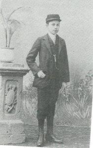 Hendrik Gerrit Cannegieter in 1899 als gymnasiast in Leeuwarden