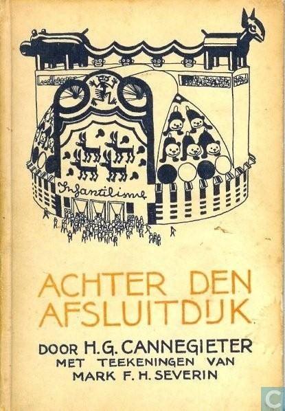Vooromslag van Achten der Afsluitdijk (science fiction)  door H.G.Cannegieter. 1929