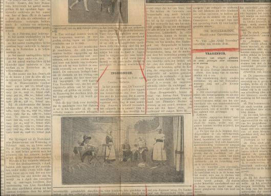 Ingezonden stuk van Th.Donkersloot, hoofd opleidingsschool Bloemendaal over kindertoneel van o.a. H.G.Cannegieter. Uit: De Vacature, 25 februari 1927.