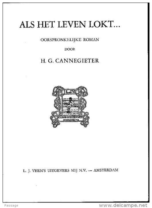 Titelblad van   door H.G.Cannegieter