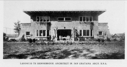 Foto van de Eikenhorst uit boek 'Moderne bouwkunst in Nederland; het groote landhuis. . 1933