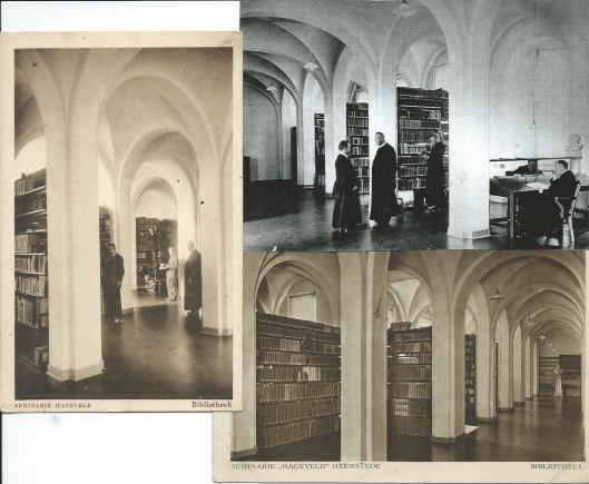 Enkele ansichtkaarten van de voormalige seminariebibliotheek Hageveld in Heemstede