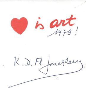 Wenskaart uit 1979 van de Vlaamse letterkundige Karel Jonckheere