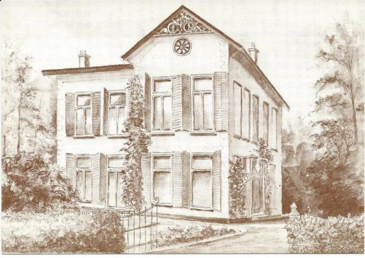 Van de tekening van Klein Berkenrode is door de HVHB ook een prentbriefkaart uitgegeven (evenals van de Oude Kerk, raadhuis, de Dorsige Kuil, Appelkamer, Ipenrode in Heemstede en hervormde kerk en pand Binnenweg 9 in Bennebroek)