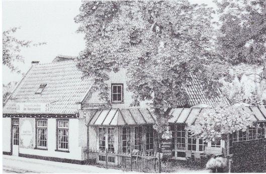 Pentekening van vh.herberg, thans pannenkoekenhuis de Konijnenberg in Heemstede door F.J.E.van Wassenaar