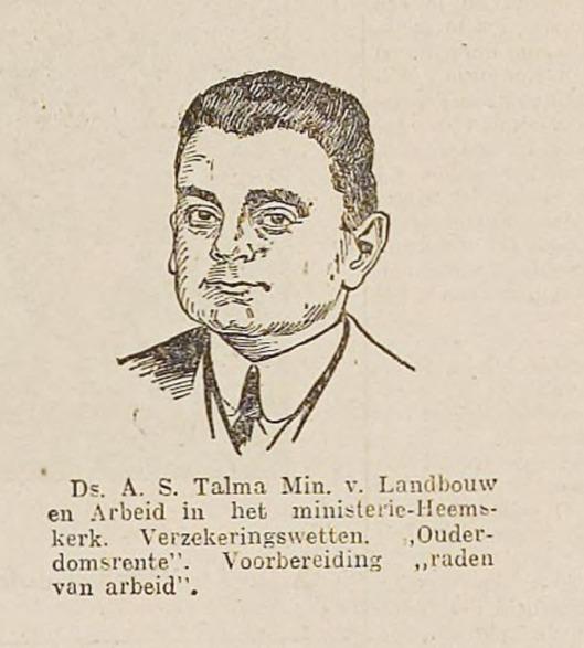 Getekend portret A.S.Talma