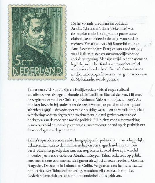 Achteromslag van biografie 'De rode dominee' (2010)van Lammert de Hoop en Arno Bornebroek