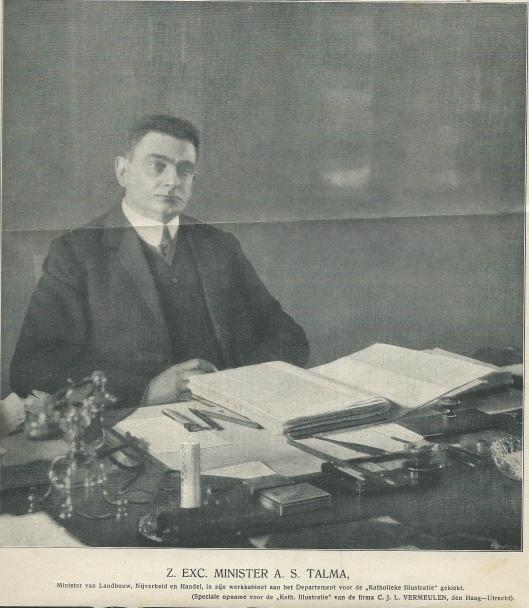 Talma in de werkkamer van het ministerie (De Katholieke Illustratie van 25 maart 1911)