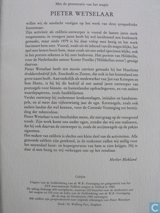 Inleiding door Herber Blokland van de Arethusapers