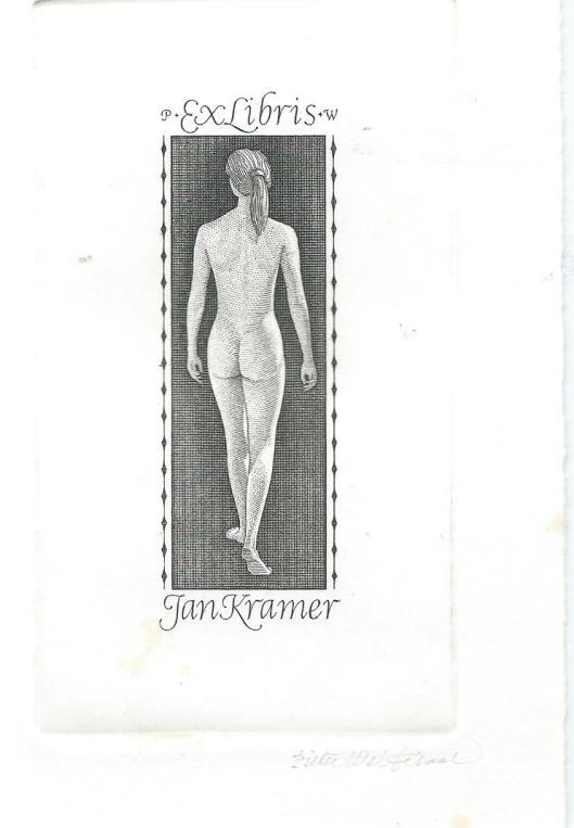 Nog een exlibris door Wetselaar ontworpen op speciaal verzoek van Jan Kramer