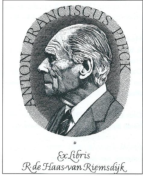 Portretgravure Anton Pieck, vervaardigd door Wetselaar voor mevrouw