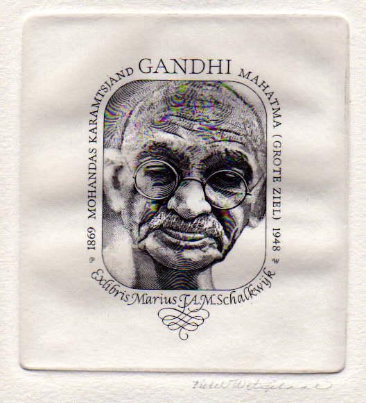 Exlibris Mahatma Gandhi