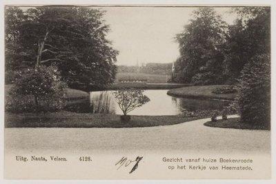 Vergezicht vanuit het huis van Boekenrode naar Heemstede