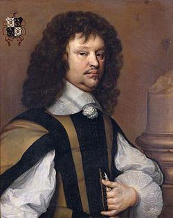 Geschilderd portret van Pieter de Groot, (door Adriaen Hannemann?)