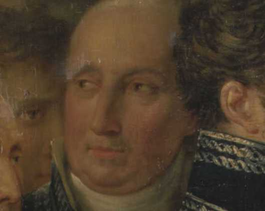 J.N.van Eys op een groepsportret in Amsterdams Historisch Museum