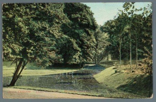 Oude prentbriefkaart van wandelpark Boekenrode