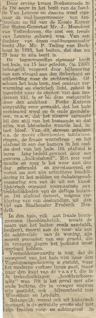 Vervolg artikel Boekenrode uit H.D. van 14-9-1922