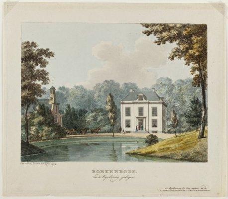 Hendrik Numan. Ingekleurde ets van Boekenrode, 1794