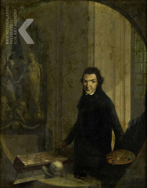 Zelfportret van Chr.F.Franck (Rijksmuseum Amsterdam)